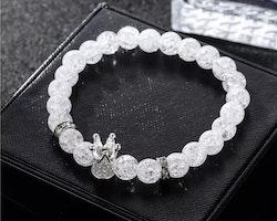 Crystal crown silver
