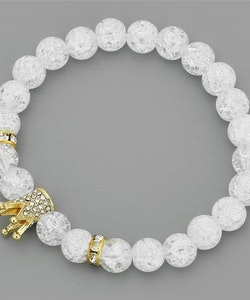Crystal crown gold