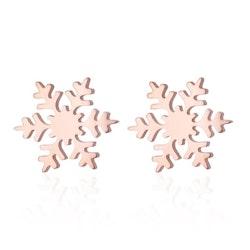 """Örhängen snöflinga """"Rosé"""""""