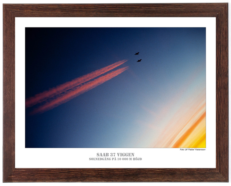 SAAB 37 VIGGEN Solnedgång på 10 000 m höjd