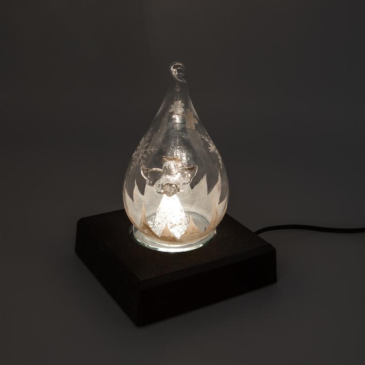 Light in Art Ljusplatta LED i Trä kvadrat 11 cm