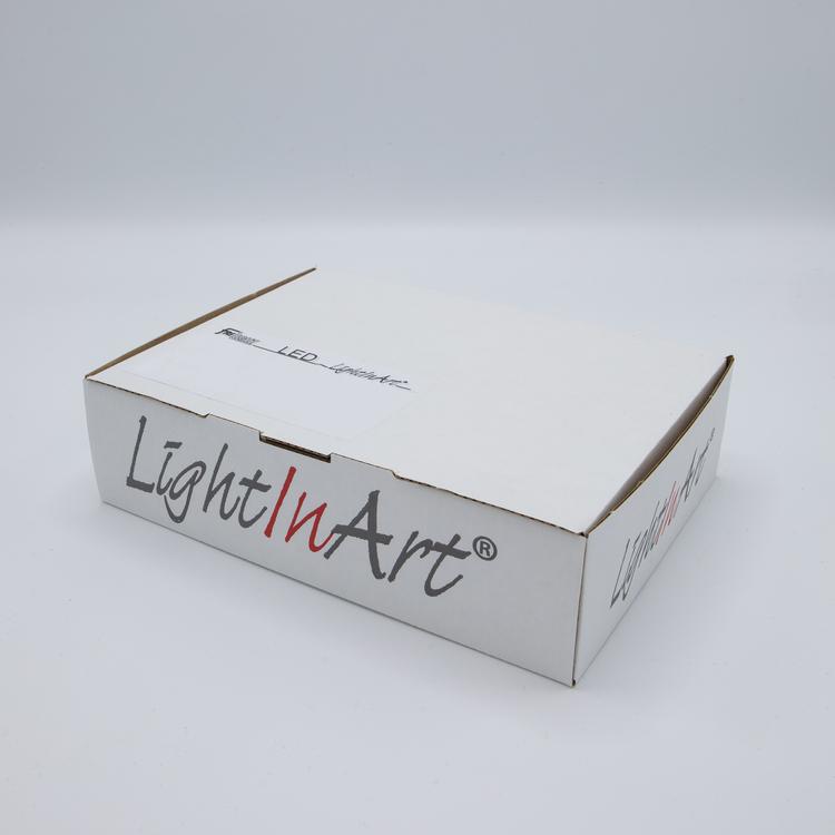 Light in Art Ljusplatta LED i Trä kvadrat 15 cm