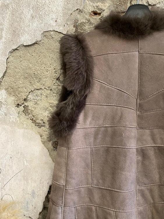 Fårskinnsväst i spanskt fårskinn 36