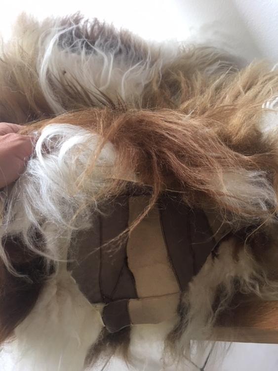 sittdynaKuddfodral  i isländskt fårskinn