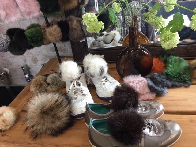Pälsdetalj till skor