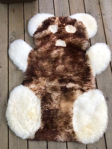 Pandamatta i  fårskinn-ljusbrun