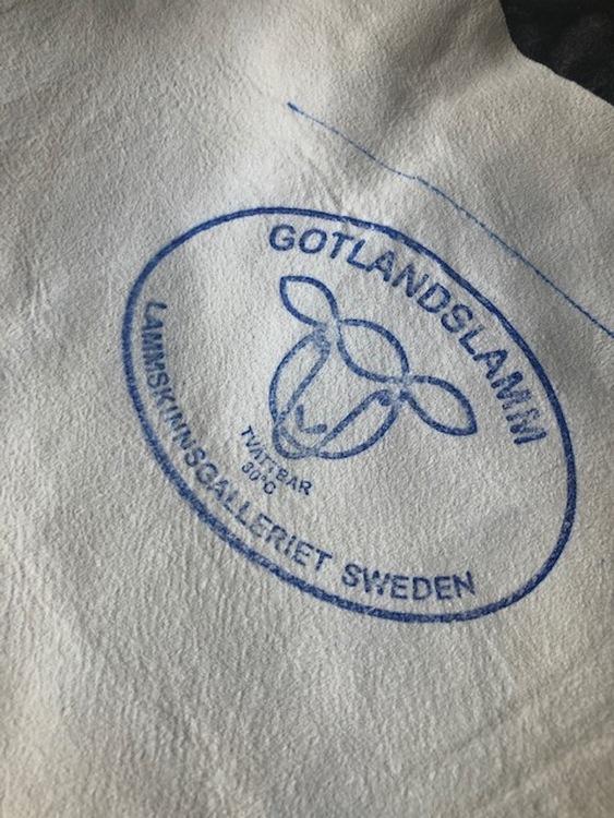 Gotländskt lockigt fårskinn