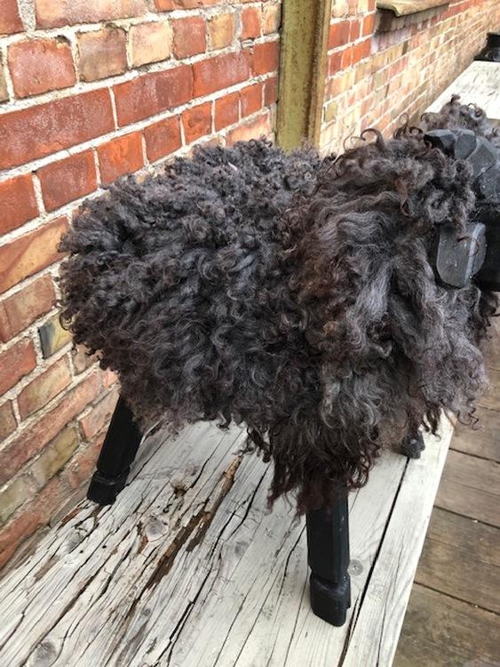 PALL lamm, klädd i svenskt fårskinn