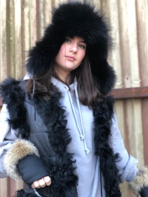 Fårskinnsväst Sarah i spanskt fårskinn
