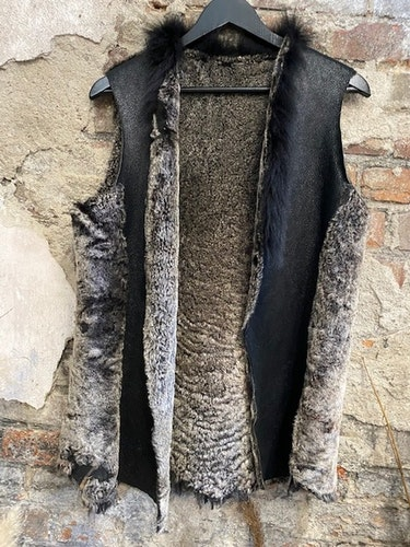 """Fårskinnsväst """"Ada"""" i Toscana lamm-40"""