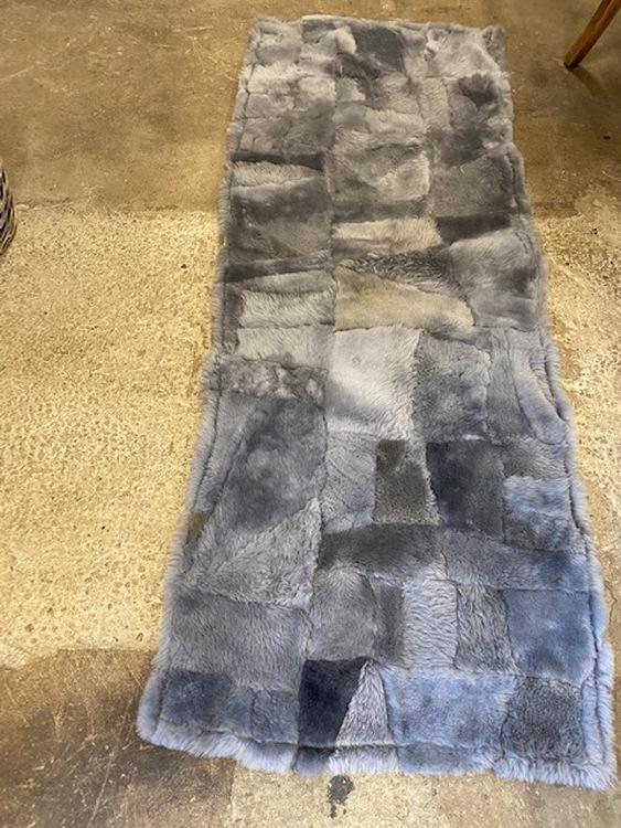 Fårskinnspläd i äkta fårskinn/Yogamatta