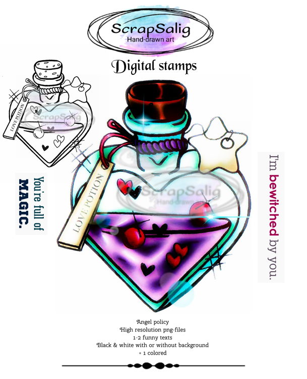 Digitala Stämplar - Love Potion, helt set