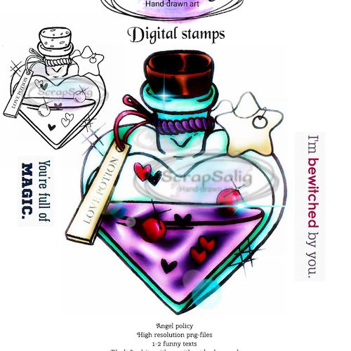 Digitala Stämplar - Love Potion, helt set