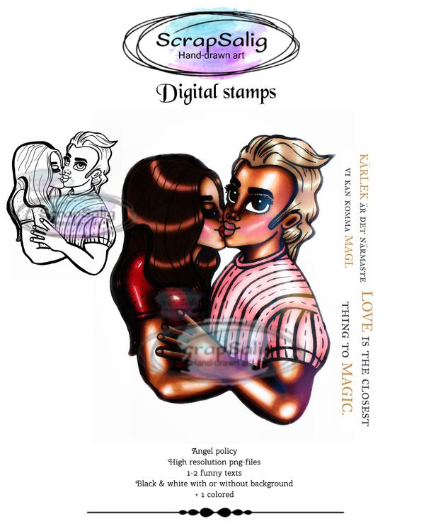 Digitala Stämplar - Sabina loves Philip, helt set