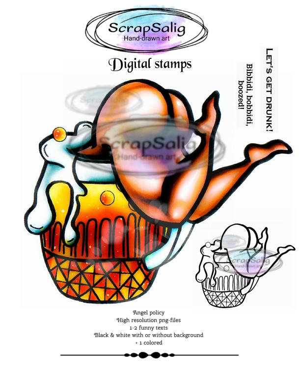 Digitala Stämplar - Deep Sips, helt set