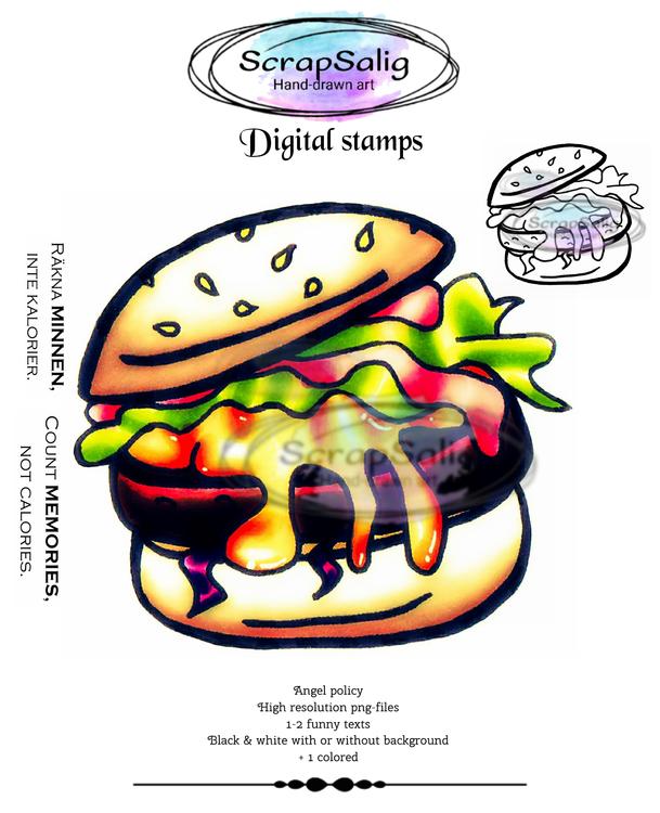 Digitala Stämplar - Totally Tasty, helt set