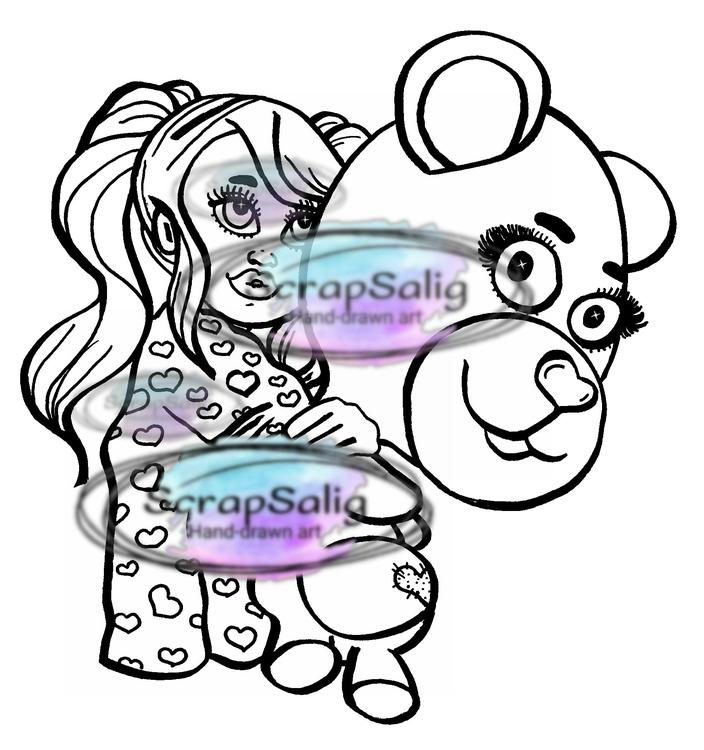 Digitala Stämplar - Tilda & Teddy, helt set