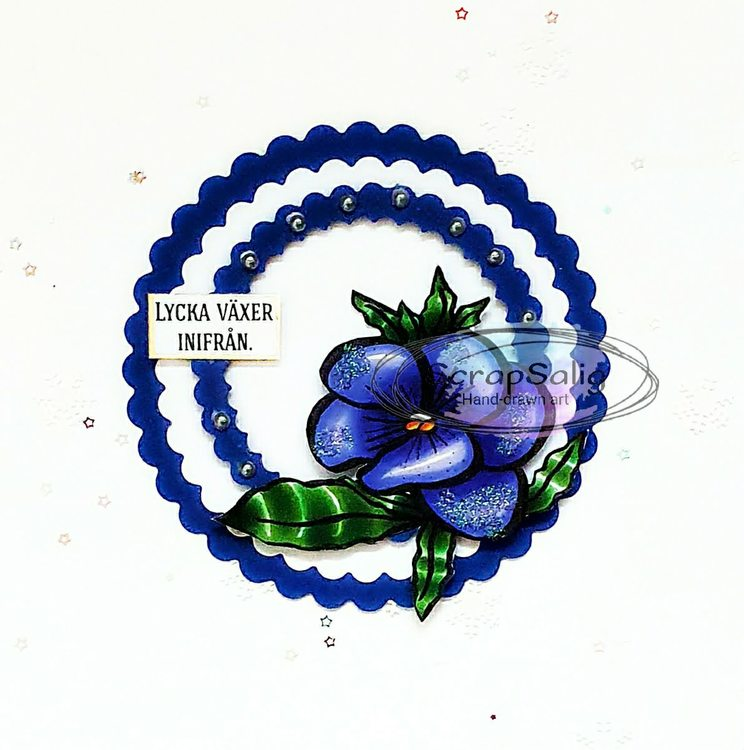 Digitala Stämplar - Violets are blue, helt set