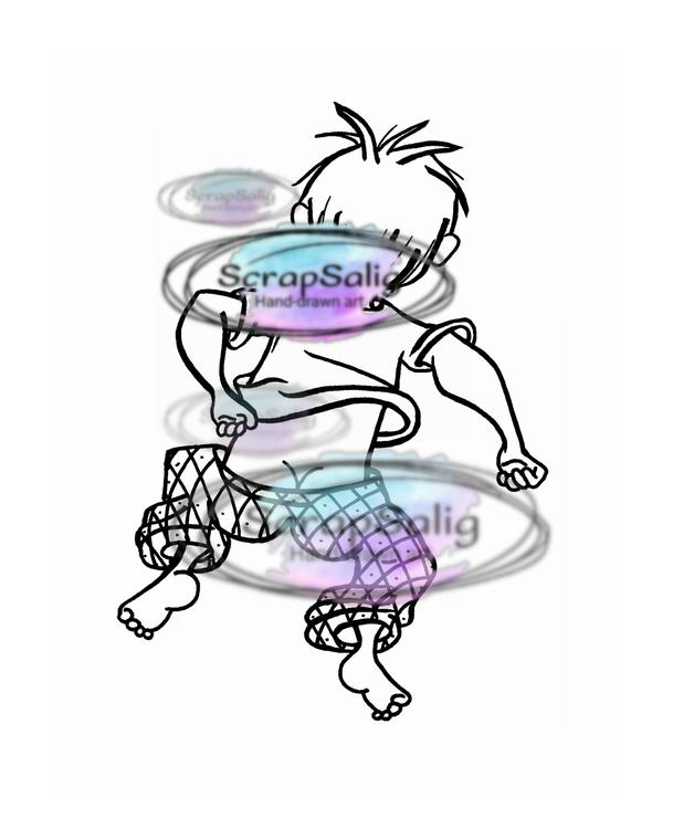 Digitala Stämplar - Jumping Joe, helt set