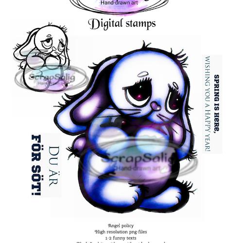 Digitala Stämplar - Fuzzy Love, helt set