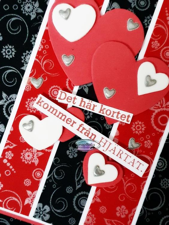 Handgjort kort - Det här kortet kommer från hjärtat