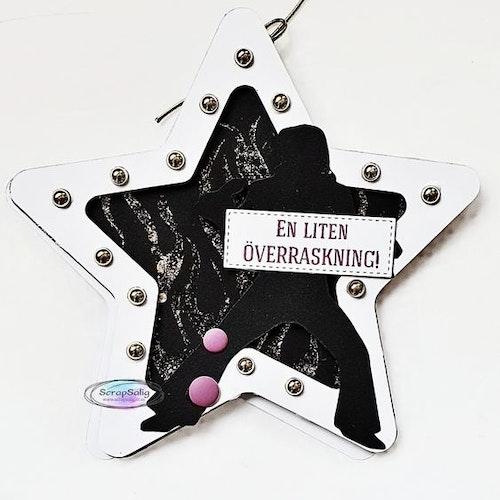 Handgjort kort - En liten överraskning, Elvis-inspirerat, stjärnformat