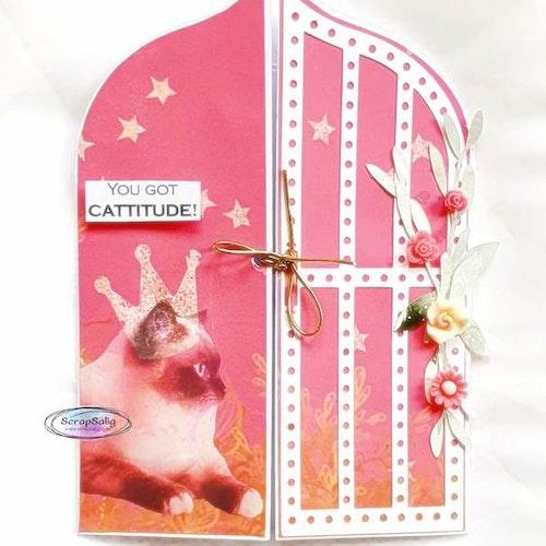 Handgjort kort - You got cattitude, Gate fold