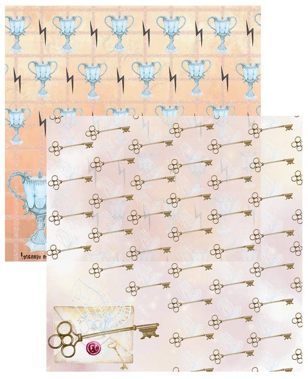 Paper Pad - Magical Vol 1, 12 stycken dubbelsidiga designpapper