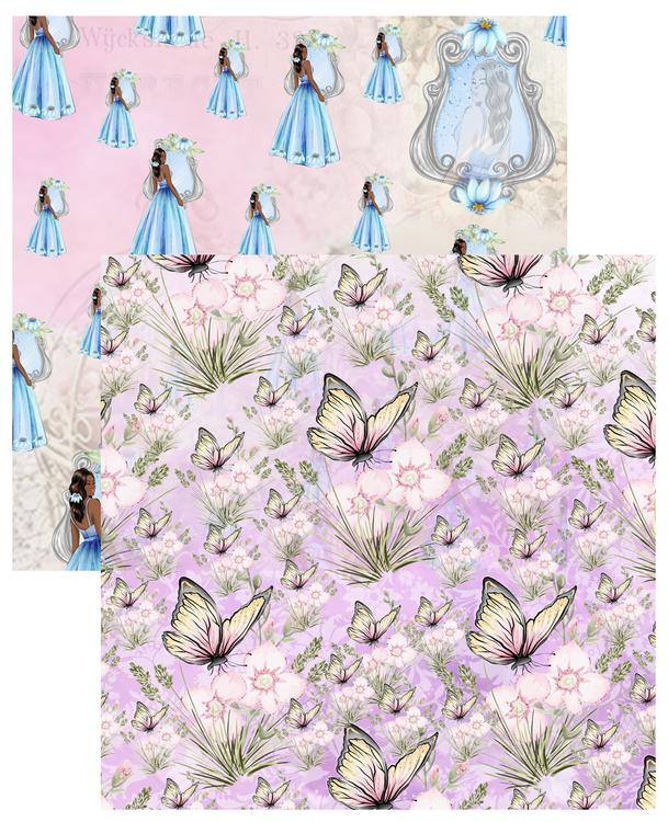 Paper Pad - Flourishing Vol 1, 12 stycken dubbelsidiga designark