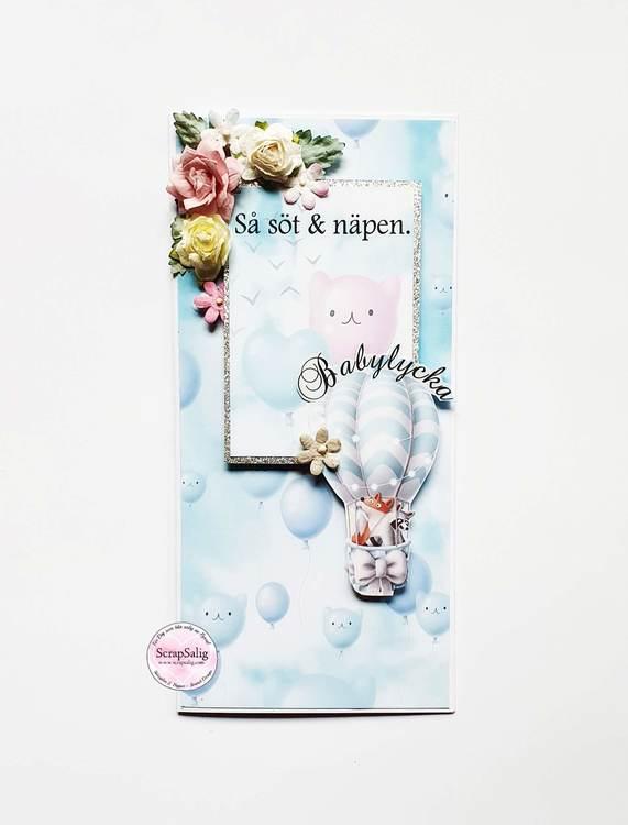Handgjort kort - Så söt & näpen/Babylycka