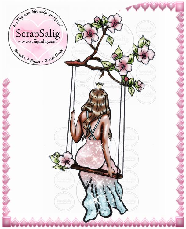 Digitala Stämplar - Prinsessan Pernilla, helt set