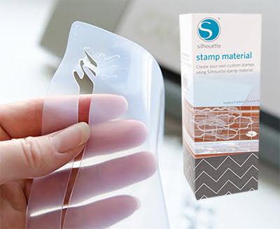 """Silhouette Stamp Material 6""""X7.5"""" - Tre stycken ark med måtten 15,2 x 19 cm"""