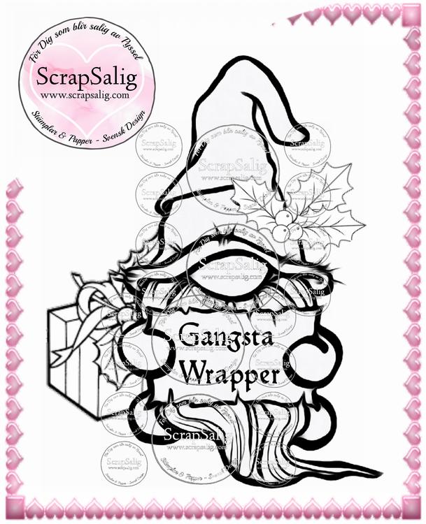 Digitala stämplar - Gangsta Wrapper, helt set