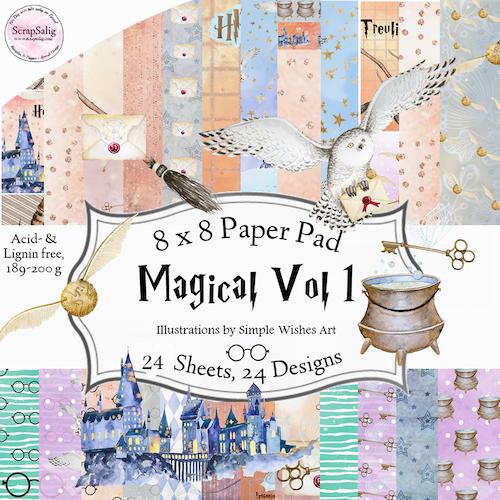 Paper Pad - Magical Vol 1, 24 stycken designpapper