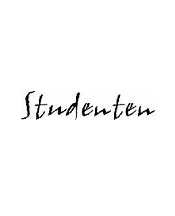 Monterad stämpel - Studenten, 6 x 1,3 cm