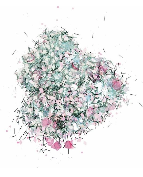 Glittermix - Paljetter och glitter, silver med holografisk effekt, 10 g