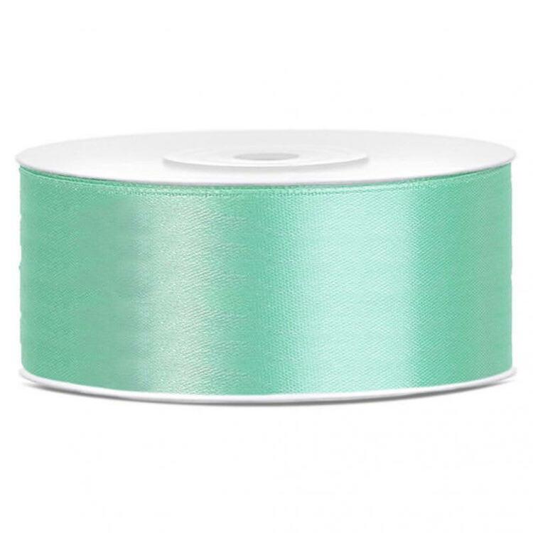Satinband - Mintgrönt, 2,5 cm x 2 meter