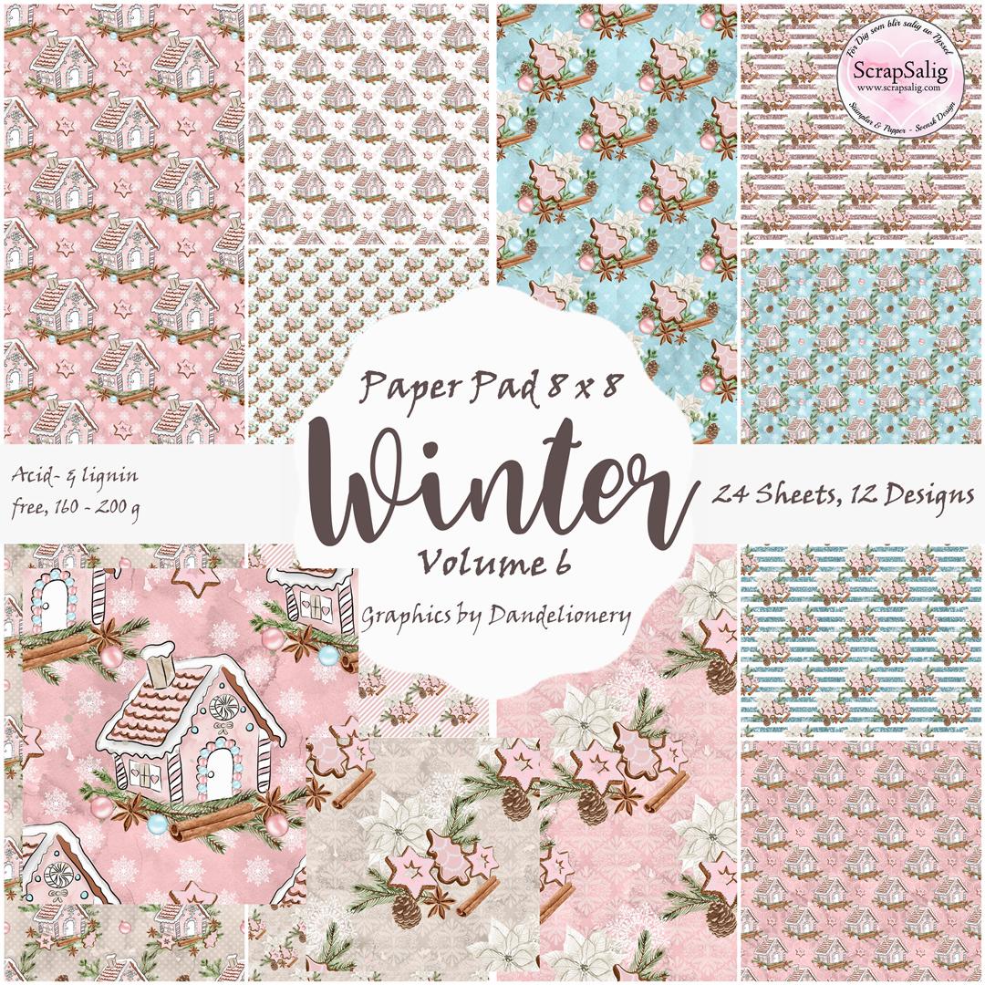 Paper Pad - Winter Vol 6, 24 stycken designpapper