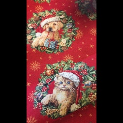 Möbeltyg Jaquard - Katt & Hund