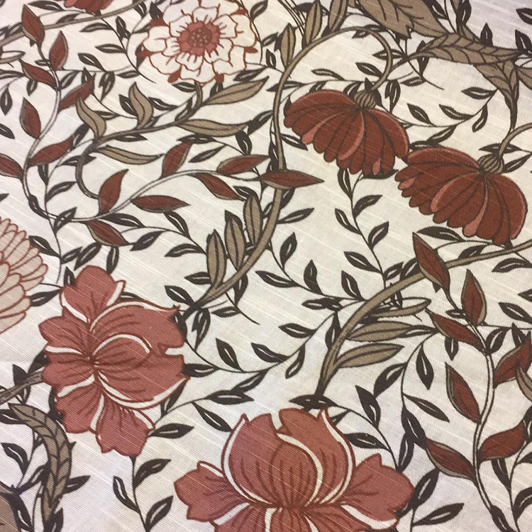 Tyg - Bruna blommor