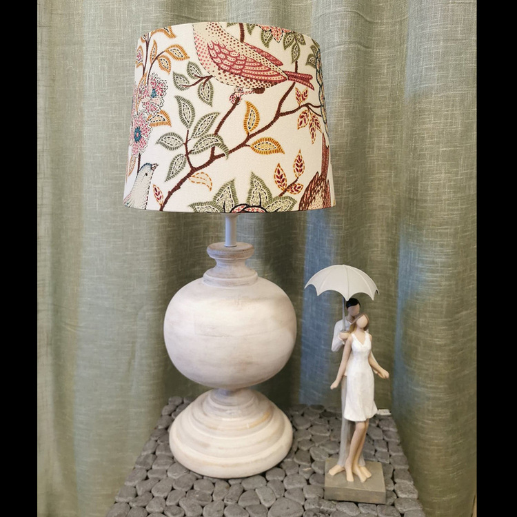 Bordslampa - Mango rund, vit