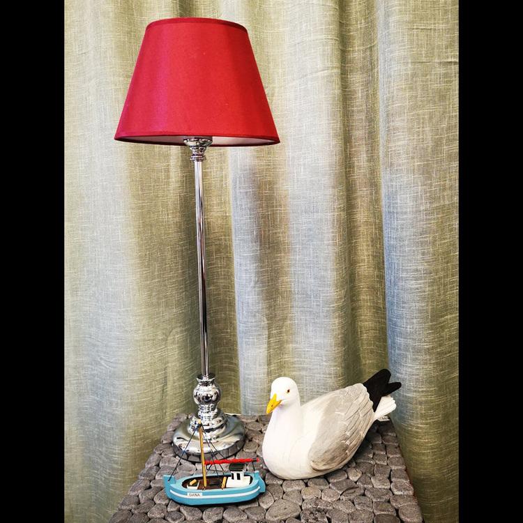 Bordslampa - Pelle, silver