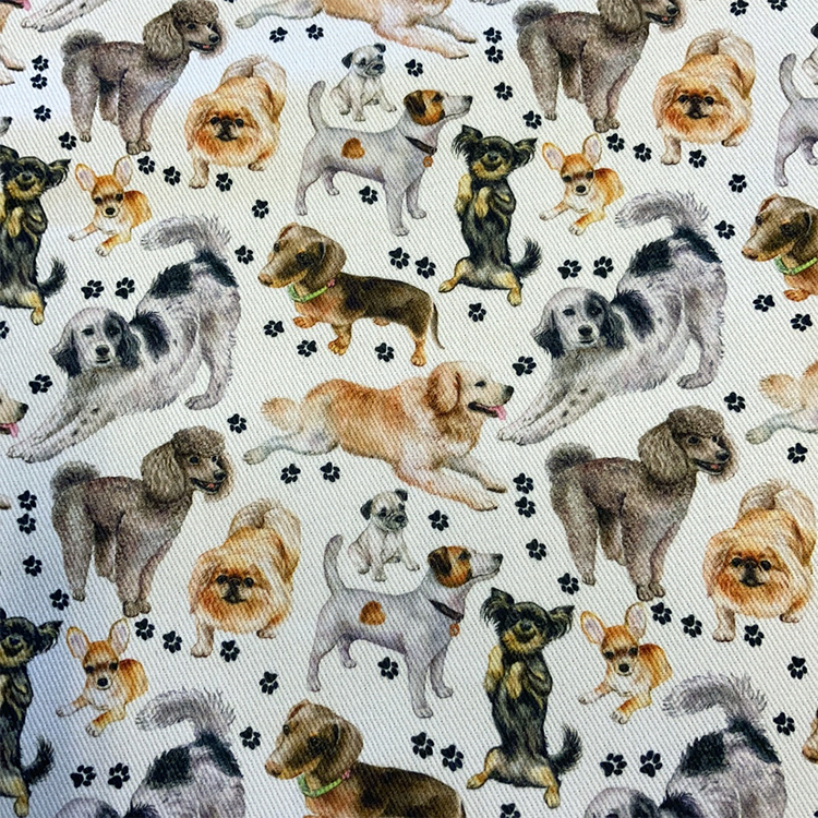 Tunt bomullstyg - Hundar
