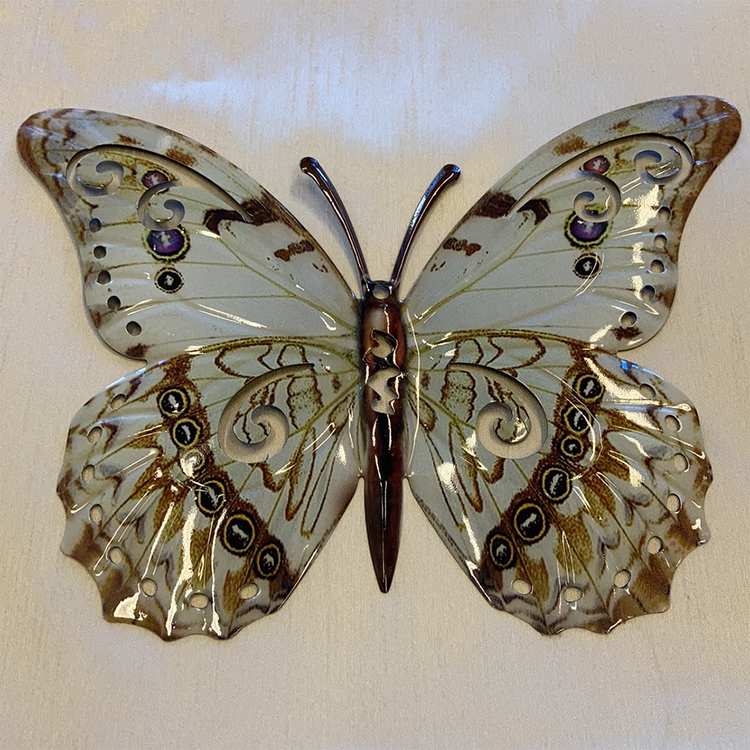 Väggdekoration - Fjäril i plåt (fler färger)