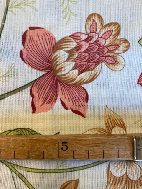 Gardinkappa - metervara - Fallande blomma