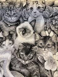 Möbeltyg - katter