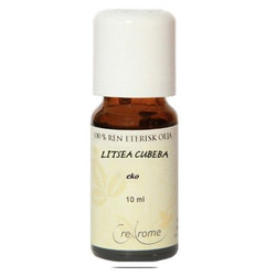 Litsea Cubeba Eterisk Olja EKO 10 ml Aromaterapi (Crearome)