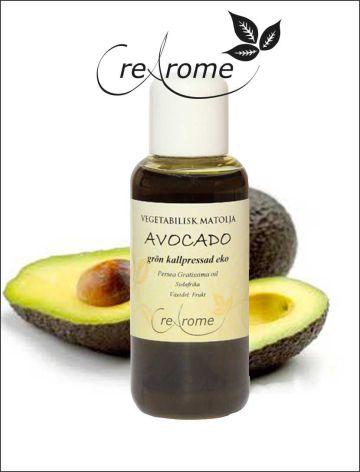 Kallpressad Avokadoolja Grön EKO 100 ml (Creaome)