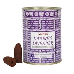 Lavendel Backflow Rökelsekoner (Goloka)