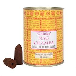 Nag Champa Backflow Rökelsekoner (Goloka)
